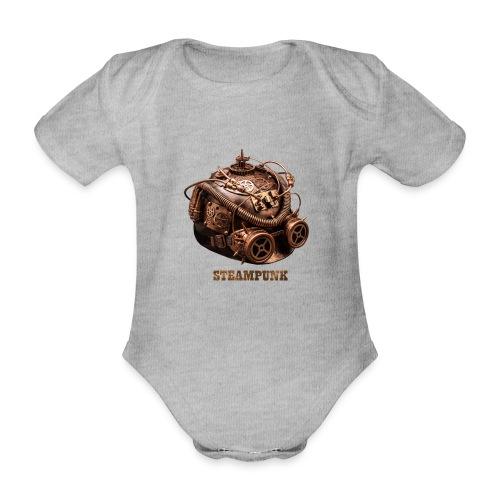 Steampunk Helm Retro Futurismus Gotik - Baby Bio-Kurzarm-Body