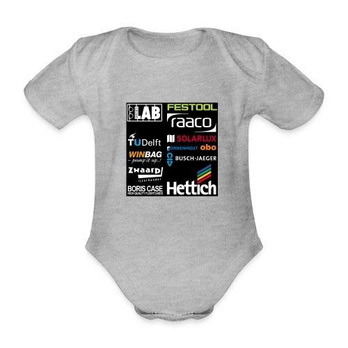 Sponsors back - Organic Short-sleeved Baby Bodysuit