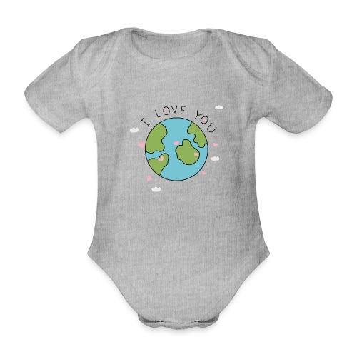 iloveyou - Body ecologico per neonato a manica corta