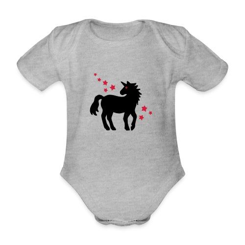 Einhorn - Baby Bio-Kurzarm-Body