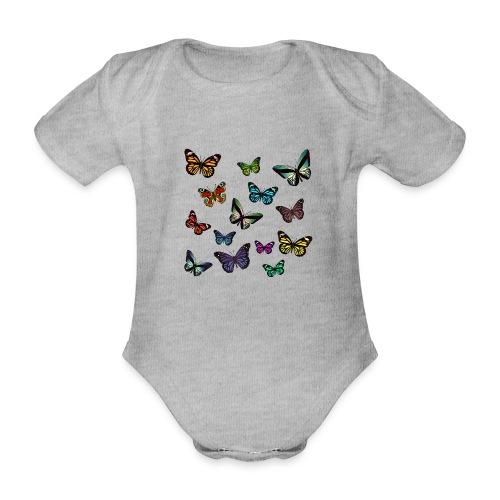 Butterflies flying - Ekologisk kortärmad babybody