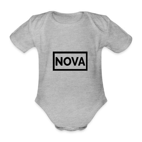 Red Nova Snapback - Organic Short-sleeved Baby Bodysuit