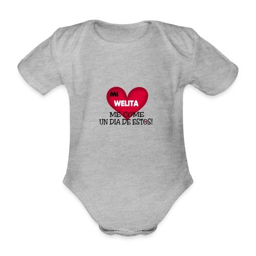 MI_WELITA_ME_COME_UN_DIA_DESTOs - Body orgánico de maga corta para bebé