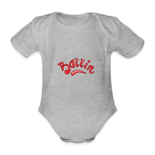 Ballin - Baby bio-rompertje met korte mouwen