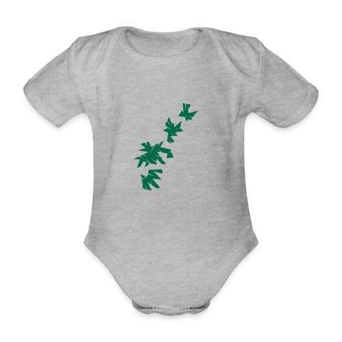 Green Leaves - Baby Bio-Kurzarm-Body