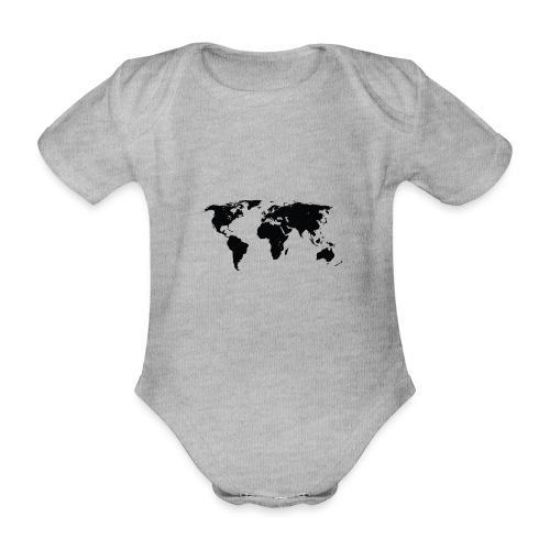 World - Kortærmet babybody, økologisk bomuld