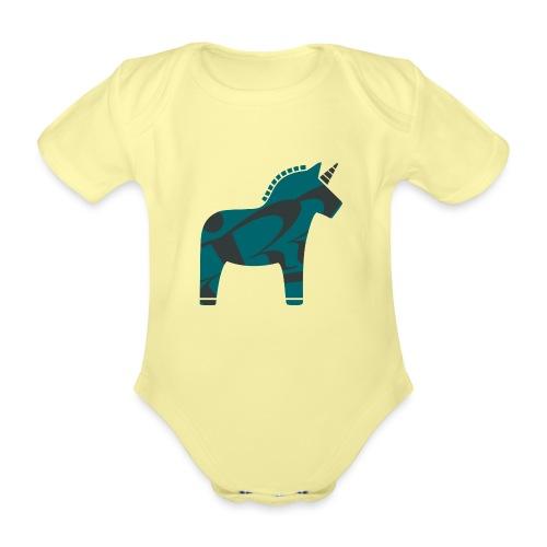 Swedish Unicorn - Baby Bio-Kurzarm-Body