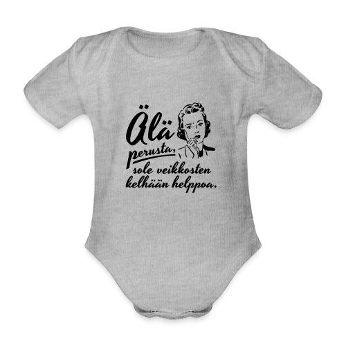 älä perusta - nainen - Vauvan lyhythihainen luomu-body
