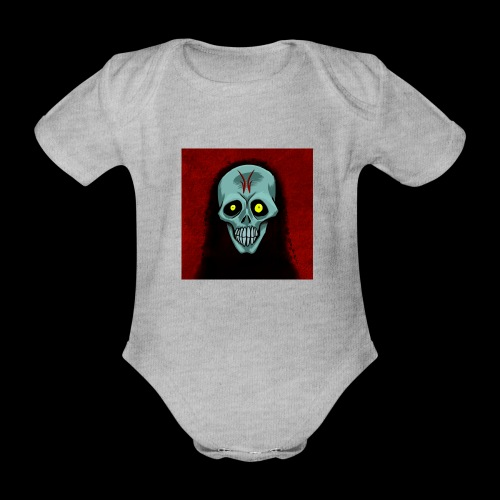 Ghost skull - Organic Short-sleeved Baby Bodysuit