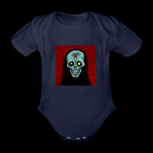 Ghost skull - Organic Short-sleeved Baby Bodysuit