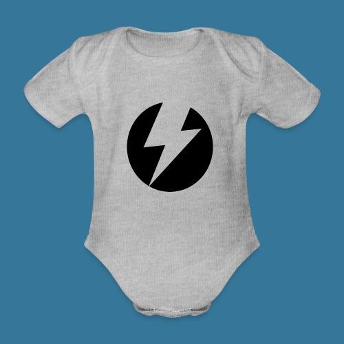 BlueSparks - Inverted - Organic Short-sleeved Baby Bodysuit