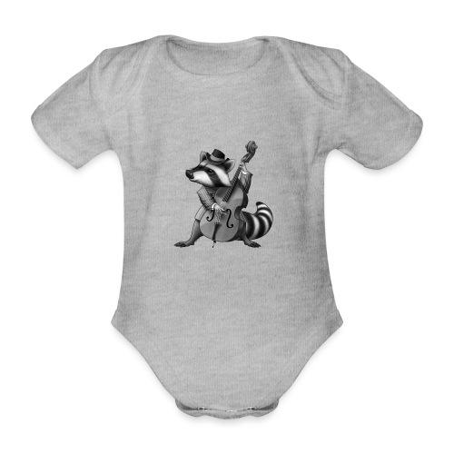 Racoon Musician - Baby Bio-Kurzarm-Body