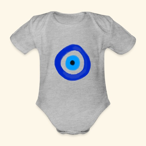 Blue evil eye Water Colour - Ekologisk kortärmad babybody