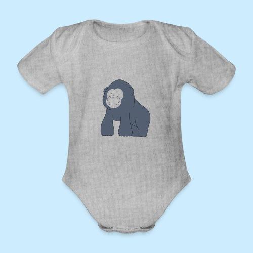 Baby Gorilla - Organic Short-sleeved Baby Bodysuit