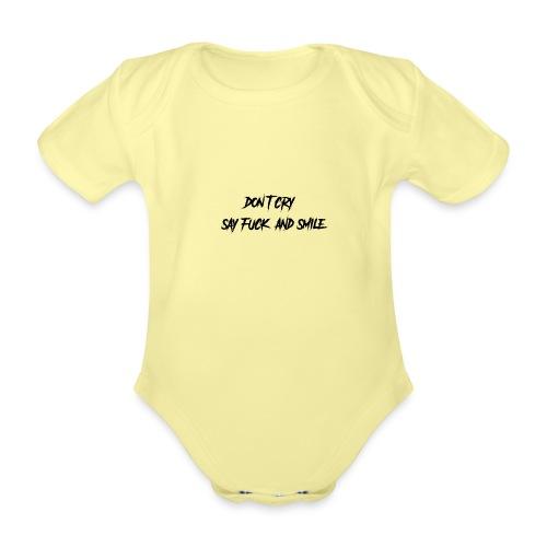 Dont cry - Vauvan lyhythihainen luomu-body
