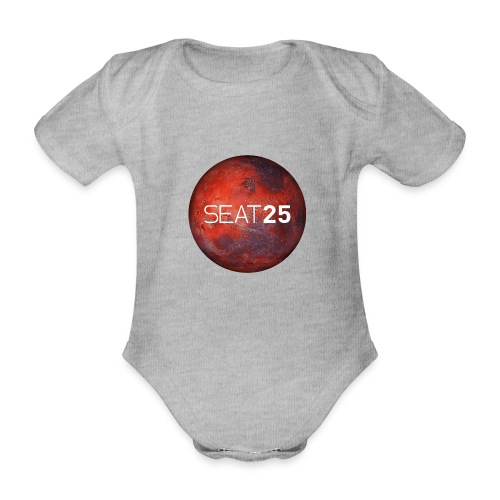 Mars and Logo - Organic Short-sleeved Baby Bodysuit