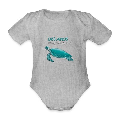 Océanos libres de plástico - Body orgánico de manga corta para bebé