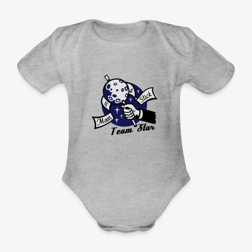 Moon on a Stick - Team Star - Organic Short-sleeved Baby Bodysuit