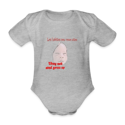 hábitos boy - Body orgánico de manga corta para bebé