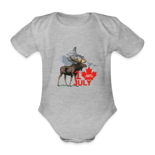 Happy Canada Day - Baby Bio-Kurzarm-Body