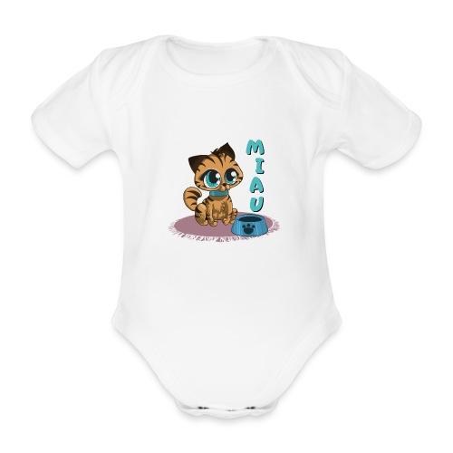Miau - Baby Bio-Kurzarm-Body