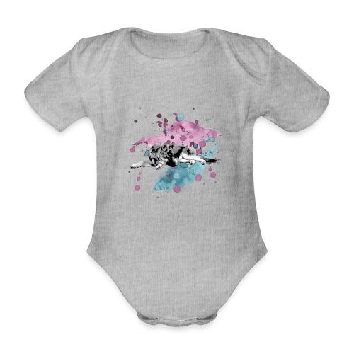 Shepherd Watercolor - Baby Bio-Kurzarm-Body