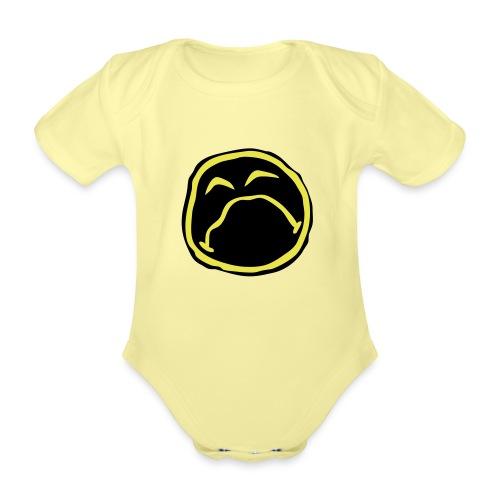 Droef Emoticon - Baby bio-rompertje met korte mouwen
