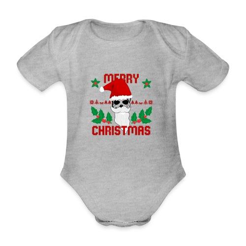 Merry Christmas Skull - Baby Bio-Kurzarm-Body