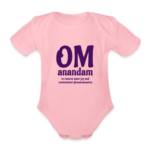 TS Om Anandam purple - Body ecologico per neonato a manica corta