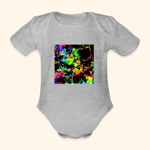 Fiamme colorate - Body ecologico per neonato a manica corta