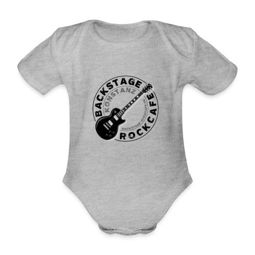 Backstage Logo einfach Schwarz - Baby Bio-Kurzarm-Body