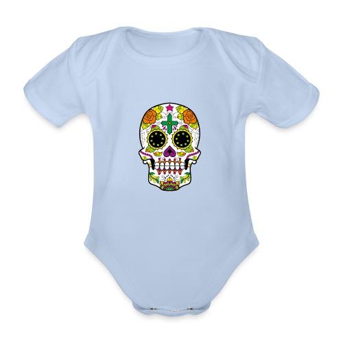 skull4 - Body ecologico per neonato a manica corta
