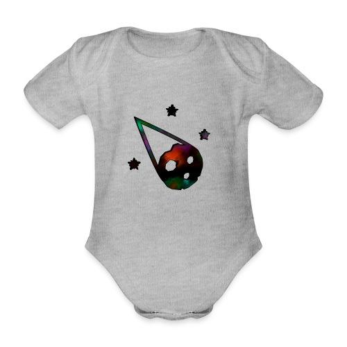 logo interestelar - Body orgánico de maga corta para bebé