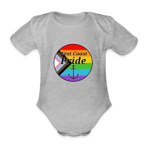 progressive pride flag - Kortærmet babybody, økologisk bomuld