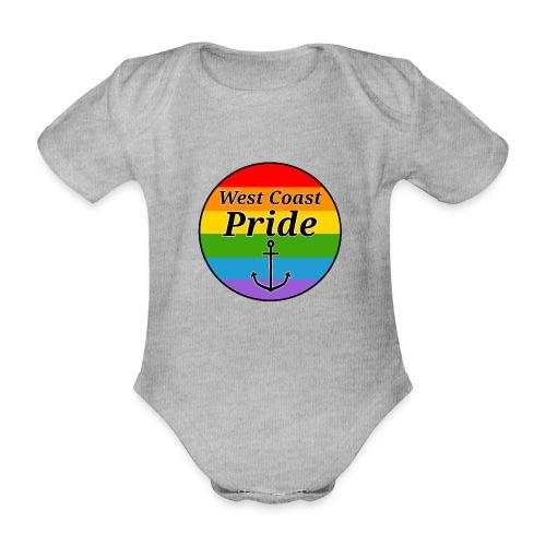rainbow pride flag - Kortærmet babybody, økologisk bomuld