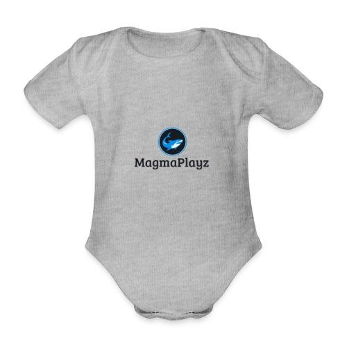 MagmaPlayz shark - Kortærmet babybody, økologisk bomuld