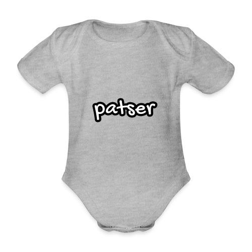 Patser - Basic White - Baby bio-rompertje met korte mouwen