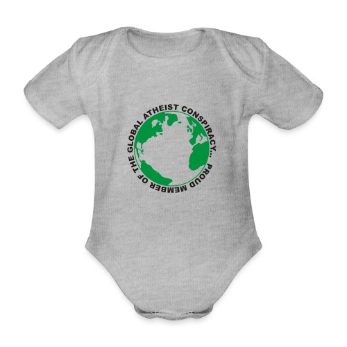 Global Atheist Conspiracy - Organic Short-sleeved Baby Bodysuit
