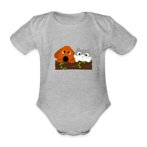 Hund & Katz - Baby Bio-Kurzarm-Body