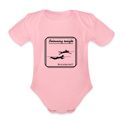 Swimming tonight - Vauvan lyhythihainen luomu-body