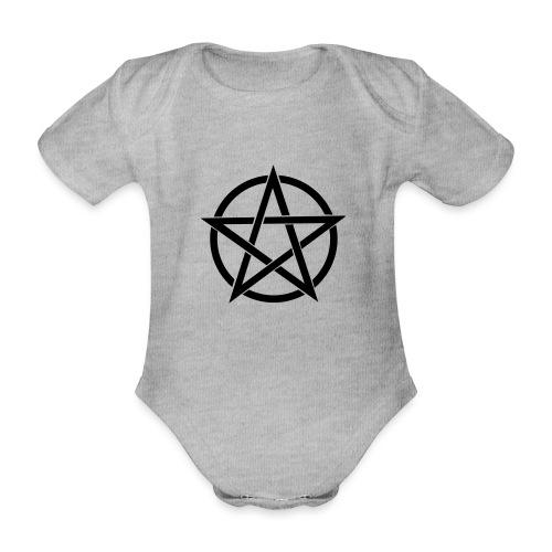 Pentagramme Wicca - Body Bébé bio manches courtes