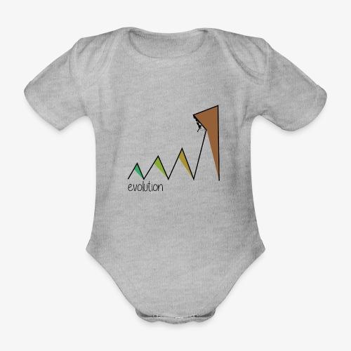 evolution - Organic Short-sleeved Baby Bodysuit