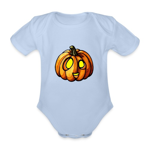 Pumpkin Halloween watercolor scribblesirii - Baby Bio-Kurzarm-Body