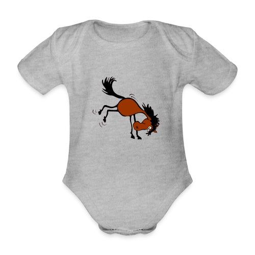 buckelndes Pferd - Baby Bio-Kurzarm-Body
