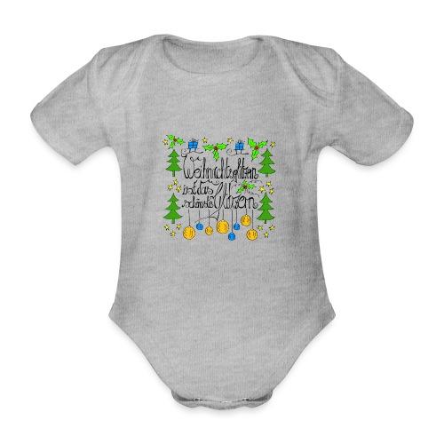 Weihnachtsglitzern - Baby Bio-Kurzarm-Body