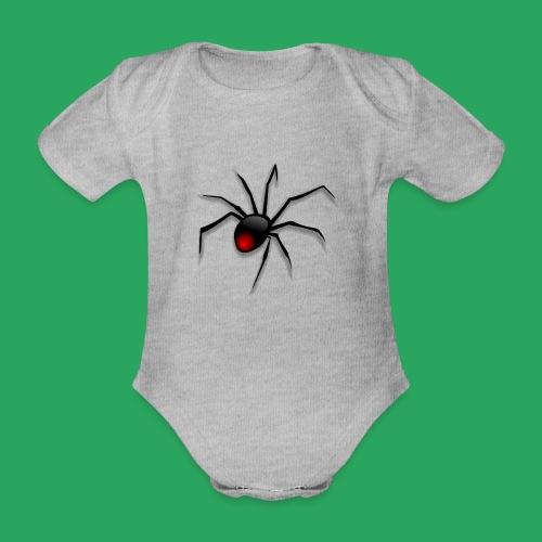 spider logo fantasy - Body ecologico per neonato a manica corta