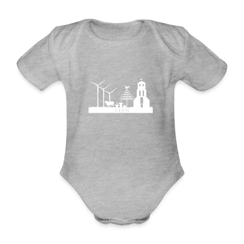 VEEN skyline white - Baby Bio-Kurzarm-Body