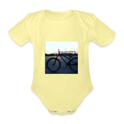 Motyw 2 - Ekologiczne body niemowlęce z krótkim rękawem