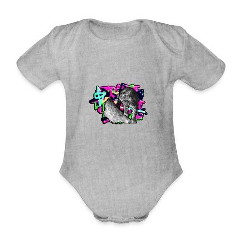 Leopard auf Bunt - Baby Bio-Kurzarm-Body