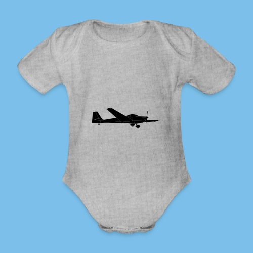 C Falke Motorsegler Segelflugzeug Segelflieger - Baby Bio-Kurzarm-Body